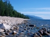 ?????°?»?????????? ?±?µ???µ??, ??-???? ???????????? ??????, ???·. ???°?????°?» (Rocky beaches along the coast of Holy Nose Peninsula, Lake Baikal)